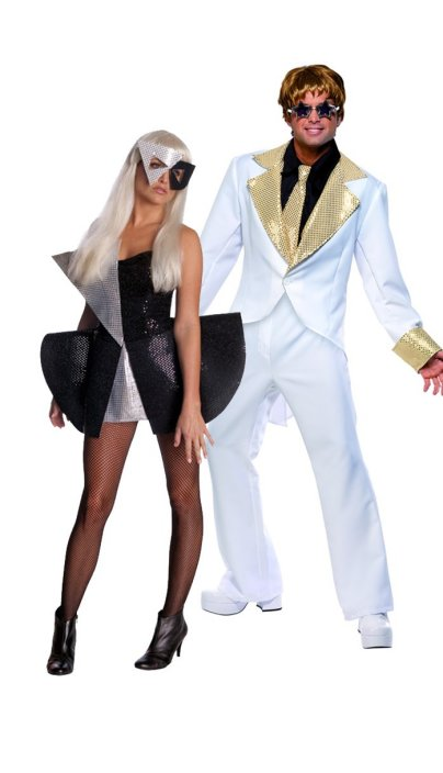 Lady Gaga & Elton John Couples Costumes